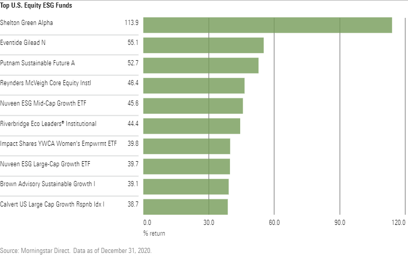 top US equity ESG funds