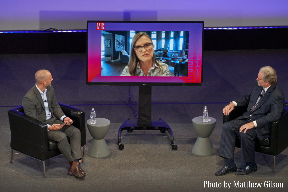 ARK Investment's Cathie Wood and Research Affiliates Rob Arnott spar over Tesla's future.